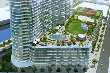 4545 Center Blvd.'s seventh-floor terrace has a dog run, beach-volleyball courts and a reflecting pool.