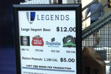 Yankee Stadium beer stands and carts have had to change their signs twice in two months after misidenifying the brews on sale there.