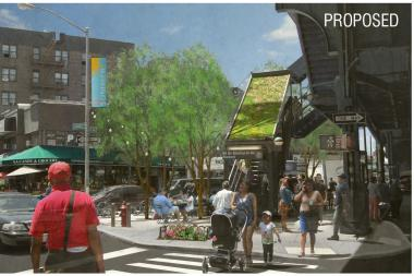 Renderings of a proposed business improvement in Jackson Heights and Corona were unveiled last week.