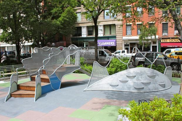Adrienne's Garden, a toddlers' playground, opened June 6, 2013.