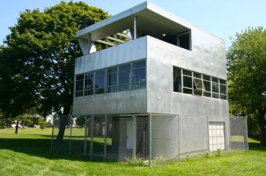 The Aluminaire House, built in 1931, was the first all-metal, prefabricated house built in the United States.