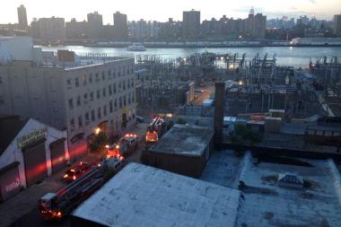 A small fire broke out at 89 Water Street in DUMBO at the Con Edison plant on Friday May 31, 2013.