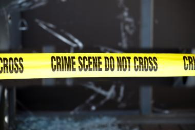 Broken glass in a stock image. A man was killed when his SUV hit an elevated train support, police said, November 10.