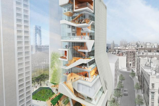Groundbreaking on Columbia's 14-story glass tower is expected by September, a university spokesman said.