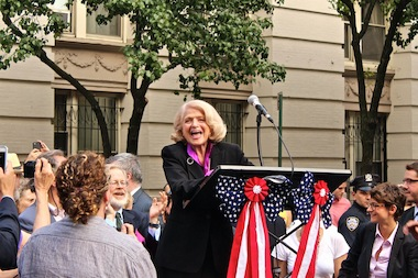 Edie Windsor, the plaintiff in a same-sex marriage case decided by the Supreme Court June 26, 2013.