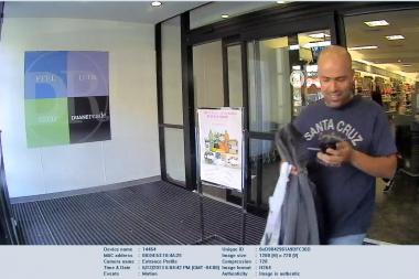 Police want to question this man in connection with a stolen debit card.
