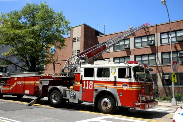 Units responded to a call of a blaze on the third floor of P.S. 307 in Vinegar Hill at about 1:30 p.m., FDNY officials said.