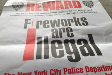 The 34th precinct has been distributing signs informing residents that fireworks are illegal. The precinct will keep an eye out for rooftop fireworks on July 4th.