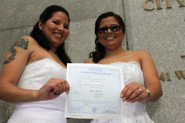 The decision will allow married same-sex couples to access hundreds of federal benefits.