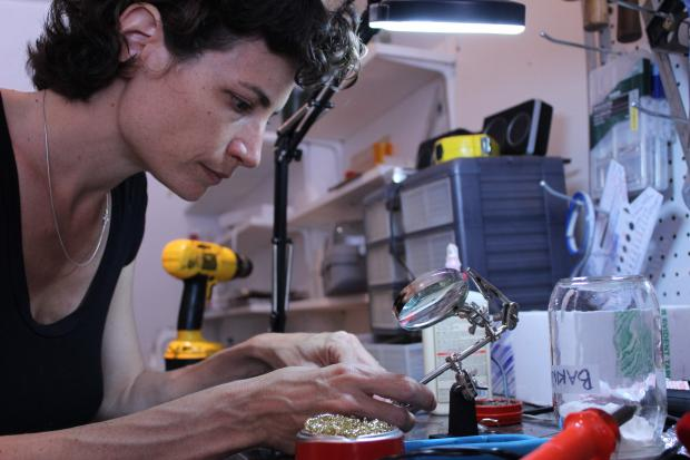The IndieGoGo funded repair shop began fixing broken items in Inwood on Saturday.
