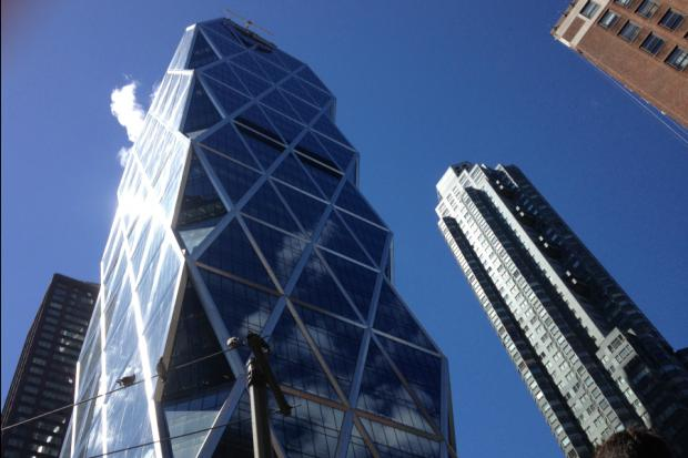 Two window washers were trapped on the side of the 46-floor Hearst Tower June 12, 2013.