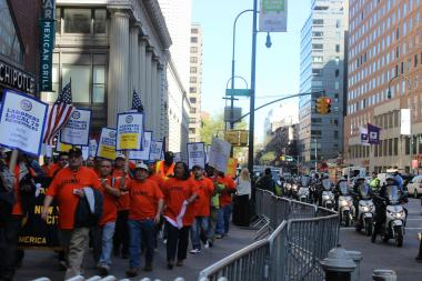 Occupy Wall Street and labor unions organized a day of protests to mark International Workers' Day.