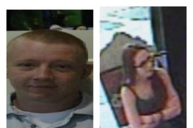Michael Beck, left, and an unknown female, fled from a Jackson Heights Dunkin Donuts in a white Chevy HHR.