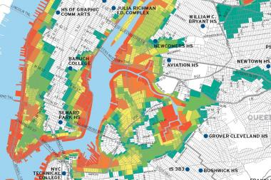 The city Office of Emergency Management and Deputy Mayor for Operations Cas Holloway released an updated hurricane evacuation zone map June 18, 2013 in which more than a third of New Yorkers' homes now fall within danger zones.