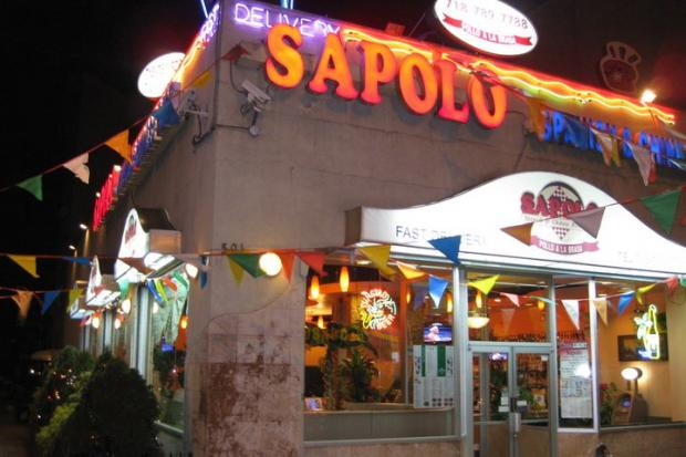 New Sapolo Restaurant is located on Myrtle Avenue and Ryerson Street in Clinton Hill.