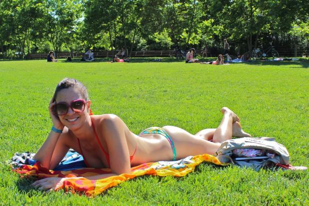 College Girls Sun Bathing