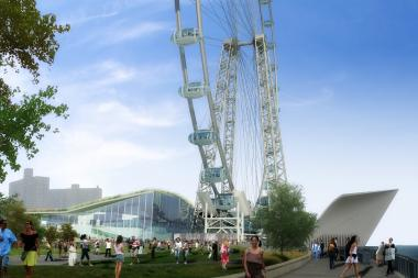 The New York Wheel will take possession of its land on Friday and start putting equipment inside to get ready for its January ground breaking.