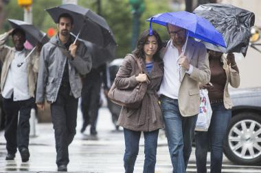 The storms should begin before noon and last through early Tuesday morning, forecasters warned.
