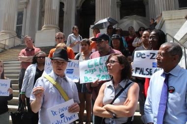 Parents from across New York City united in opposition to the dezoning in a series of events Tuesday.