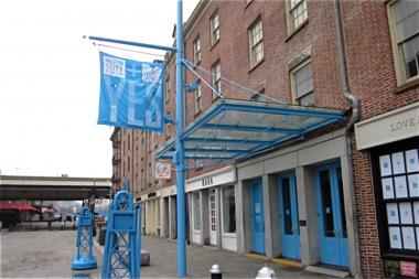 The South Street Seaport Museum's Fulton Street galleries closed April 7, 2013 because of unrepaired hurricane damage. The museum has now been temporarily taken over by the city, after losing financial backing from the Museum of the City of New York on July 5.