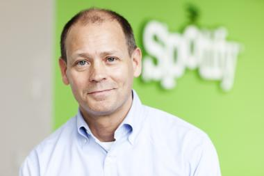Spotify's chief content officer, Ken Parks, announced the new office in a press conference with Mayor Michael Bloomberg.