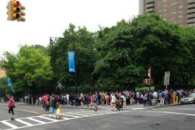 Stuyvesant High School was briefly evacuated after someone called in an anonymous bomb threat Tuesday June 11, 2013.