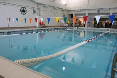 The Gertrude Ederle rec center features fitness equipment and an indoor pool.