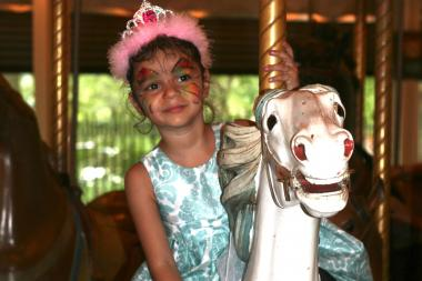 Kids will ride the carousel and have their faces painted during the second fundraiser to end Alzheimer's.