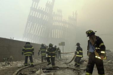 Emergency responders working at Ground Zero.