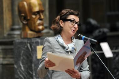 Anna Graham, pictured at the unveiling of her husband's bust of pianist Svyatoslav Richter on March 22, 2012.