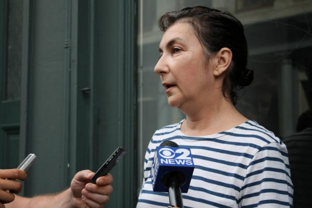 SoHo resident Anna Graham recounts thwarting robbers who held a gun to her head outside her apartment July 3.