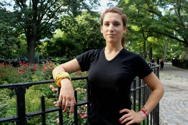 Annie Badavas, 23, will challenge herself to complete a triathlon and raise money for Red Hook nonprofit Friends of Firefighters.