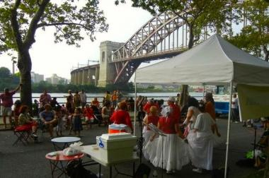 Astoria Park Shore Fest during a previous year. The annual event will take place Aug. 3, 10 and 17th with different activities along Shore Boulevard in Astoria Park.