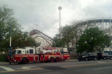 Emergency officials were called to Coney Island Tuesday after reports that the  AstroTower was swaying.