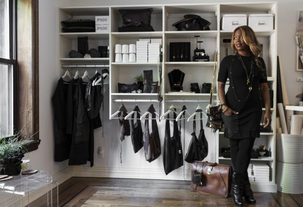 From belts to baubles, leather bags to hair extensions Brooklyn designer offers shoppers 'spa' experience