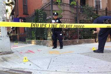 A man and a woman have been taken to King's County Hospital Center after a Bed-Stuy shooting on July 5 2013.