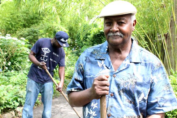 The M'Finda Kalunga Community Garden has been an oasis for local homeless for three decades.