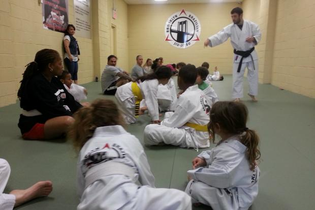"The Brooklyn Brazilian Jiu-Jitsu dojo at 157 Columbia St., is teaching a ""Bully Buster"" class for kids."