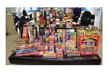Cops seized $1,600 worth of fireworks from a home in the Bronx.