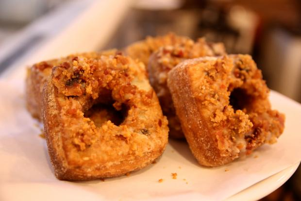 Popular croissant-donut hybrids sell out at Le Petit Bakery in Fort Greene daily.