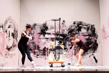 "The summer workshop series at the Children's Museum of the Arts in Hudson Square includes sessions in ""dance drawing"" with paint on canvases."
