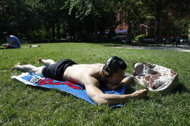 The heatwave continued to strike New York Tuesday, as temperatures were expected to rise to 96 degrees.