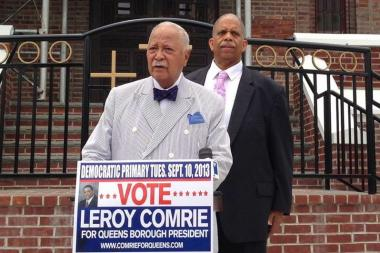 Leroy Comrie received the endorsement of former mayor David Dinkins