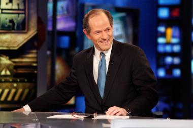 Former Gov. Eliot Spitzer visits FOX Business' 'Power and Money with David Asman' at FOX Studios on Nov. 28, 2011. The New York Times reported that Spitzer is running for city comptroller.