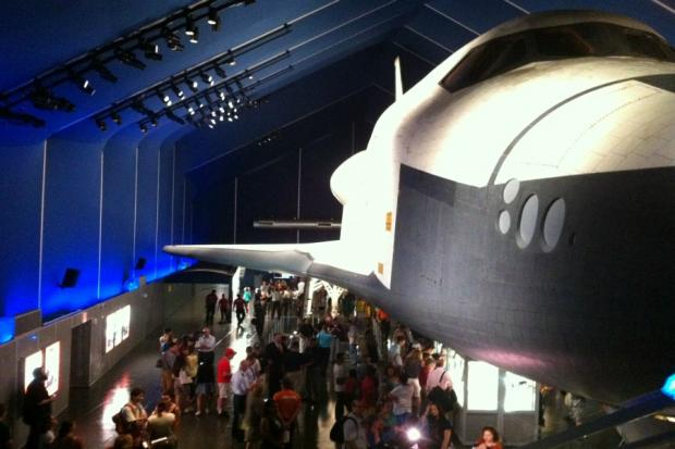 Intrepid Sea, Air & Space Museum has reopened its Space Shuttle Pavilion almost nine months after Hurricane Sandy.