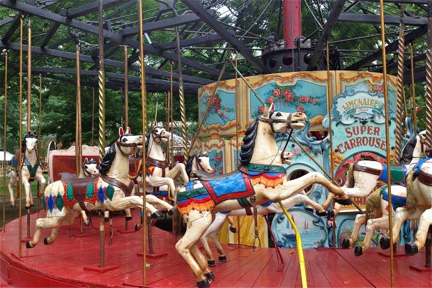 Fete Paradiso, a festival of turn-of-the-century carousels and other carnival rides, starts July 6.