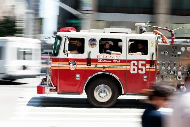Firefighters battled the fire for hours after it erupted at 363 E. 76th St. about 8:45 a.m., the FDNY said.
