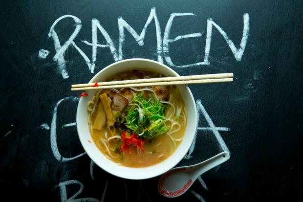 Ganso's summer ramen is a refreshing eat for hot days.