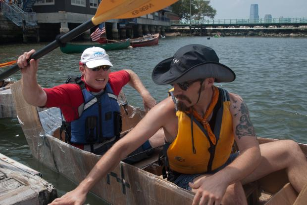 Teams from the US Coast Guard, Stevens Institute of Technology and Stuyvesant High School, among others, competed fiercely on Saturday, blatting down the Buttermilk Channel waters off Governors Island.