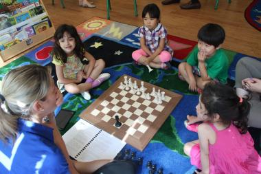 Kindergarten programs are increasingly teaching chess and preschools are jumping on the bandwagon too.